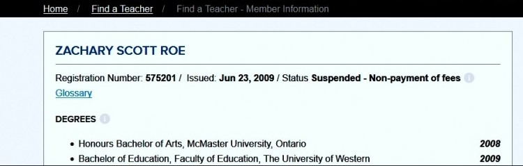 Suspended Teacher
